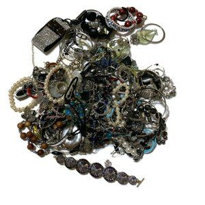 Jewelry - Silver and cool tone craft harvest lot